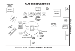 Taroom Showground Map - Click to enlarge