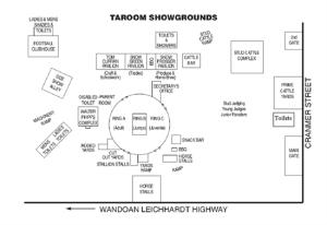 Taroom Showground Map - Click to enlarge